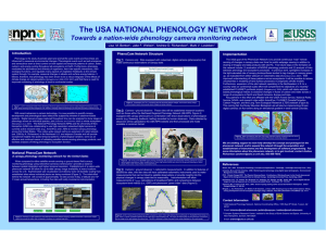 The USA NATIONAL PHENOLOGY NETWORK Lisa  M. Benton