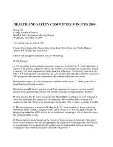 HEALTH AND SAFETY COMMITTEE MINUTES 2004