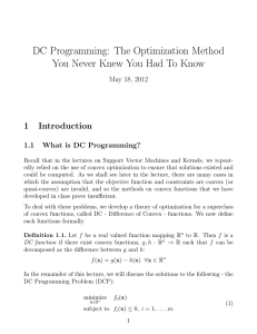 Programming:  The Optimization Method DC Never Knew You Had To Know You