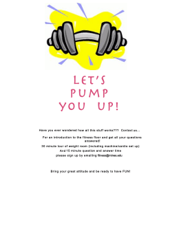 Let's pump you  up!