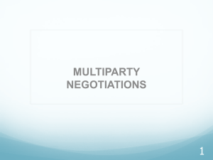MULTIPARTY NEGOTIATIONS 1