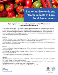 Exploring Economic and Health Impacts of Local Food Procurement