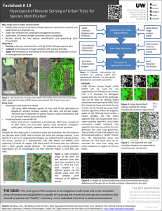 Factsheet # 19 Hyperspectral Remote Sensing of Urban Trees for Species Identification