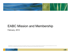 EABC Mission and Membership February, 2012