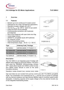 5 a h bridge for dc motor applications tle 5206 2
