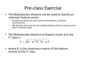 On the use of the Mahalanobis squared-distance to filter out