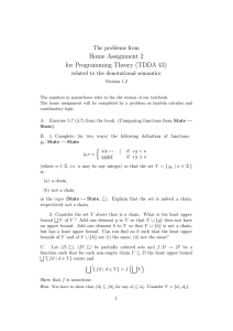 Home Assignment 2 for Programming Theory (TDDA 43) The problems from