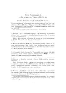 Home Assignments 1 for Programming Theory (TDDA 43)