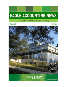 A newsletter from the Department of Accounting JULY 2014 VOLUME 3