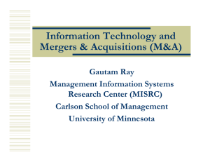 Information Technology and Mergers & Acquisitions (M&A)