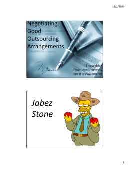 Jabez Stone Negotiating  Good