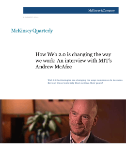 How Web 2.0 is changing the way Andrew McAfee