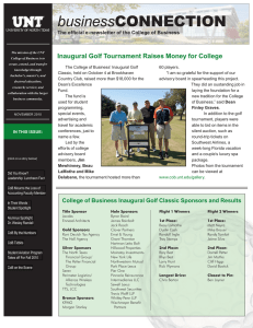 business Inaugural Golf Tournament Raises Money for College