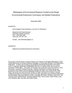Bibliography of Environmental Research Funded by the Skagit