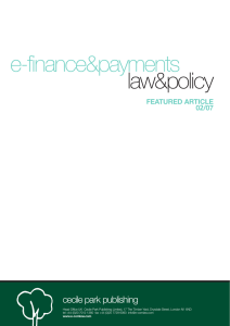law&policy e-finance&payments cecile park publishing FEATURED ARTICLE