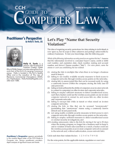 "Practitioner's Perspective Let's Play ""Name that Security Violation!"" by Holly K. Towle, J.D."