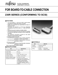 FOR BOARD-TO-CABLE CONNECTION 230R SERIES (CONFORMING TO SCSI) FUJITSU TAKAMISAWA