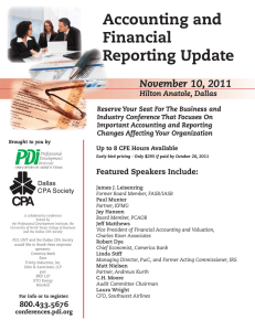 Accounting and Financial Reporting Update