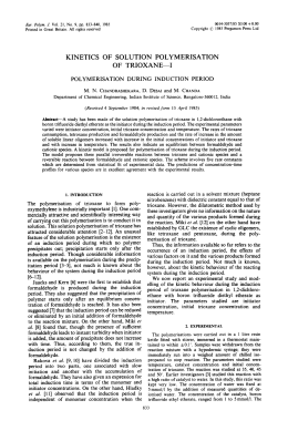 Fur. Polym. J. Vol. 21, No. 9, pp. 833-840, 1985