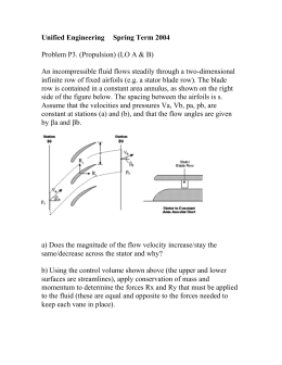 Unified Engineering Spring Term 2004 Problem P3. (Propulsion) (LO A & B)