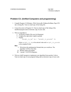 Problem C3. (Unified Computers and programming)