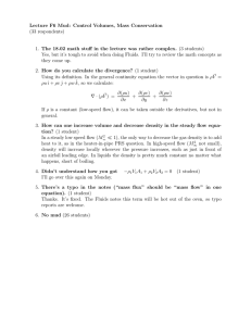 Lecture  F6  Mud:  Control  Volumes, ... (33 respondents)