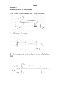 Example of Use of Free Body Diagram 1 Page 1
