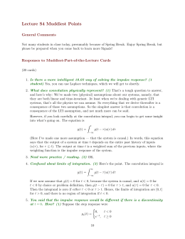 Lecture  S4  Muddiest  Points General  Comments