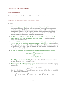 Lecture  S6  Muddiest  Points General  Comments