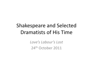 Shakespeare and Selected Dramatists of His Time Love's Labour's Lost 24