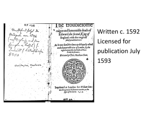 Written c. 1592 • Licensed for publication July
