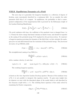 VIII.B  Equilibrium  Dynamics  of  a ...