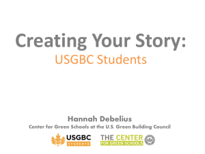 Creating Your Story: USGBC Students Hannah Debelius