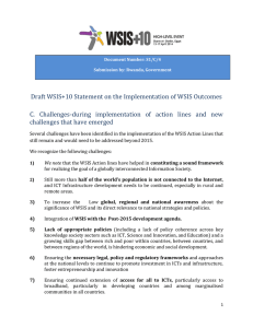 Draft WSIS+10 Statement on the Implementation of WSIS Outcomes