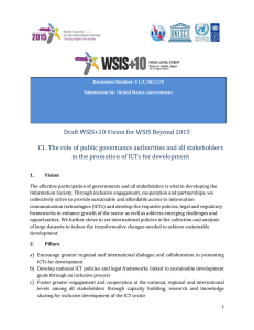 Draft WSIS+10 Vision for WSIS Beyond 2015