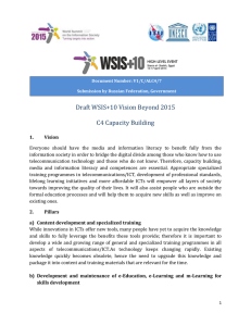 Draft WSIS+10 Vision Beyond 2015 C4 Capacity Building