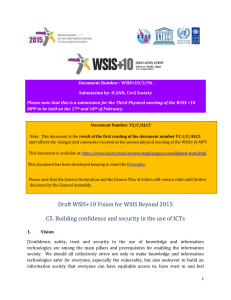 Document Number : WSIS+10/3/96 Submission by: ICANN, Civil Society