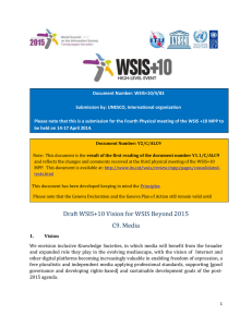 Document Number: WSIS+10/4/83 Submission by: UNESCO, International organization