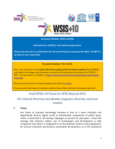 Document Number: WSIS+10/4/86 Submission by: UNESCO, International organization