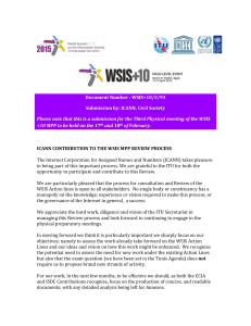 Document Number : WSIS+10/3/94 Submission by: ICANN, Civil Society
