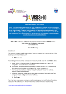 Document Number: WSIS+10/4/3