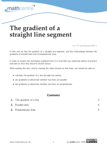 The gradient of a straight line segment