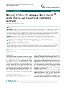 Ranking treatments in frequentist network meta-analysis works without resampling methods
