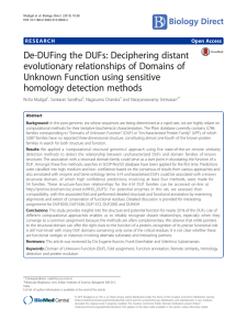 De-DUFing the DUFs: Deciphering distant evolutionary relationships of Domains of