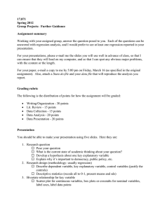 17.871 Spring 2012 Group Projects:  Further Guidance Assignment summary