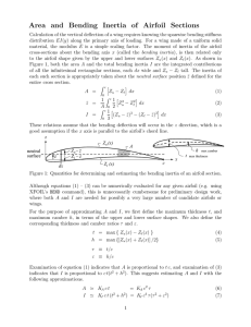Area  and  Bending  Inertia  of ...