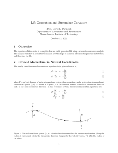 Lift Generation and Streamline Curvature