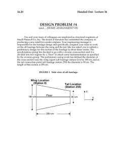 DESIGN PROBLEM #4 Lecture 36 16.20 Handed Out: (and….HOME ASSIGNMENT #9)
