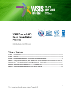 WSIS Forum 2015: Open Consultation Process