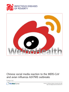 Chinese social media reaction to the MERS-CoV Fung et al.